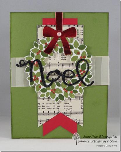 Wondrous Wreath Christmas Card