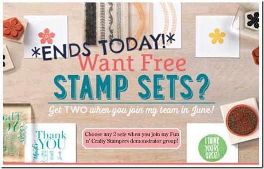 Free stamps starter kit promotion June 2015