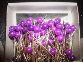 Purple Corsage Pins