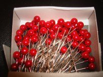 Red Corsage Pins