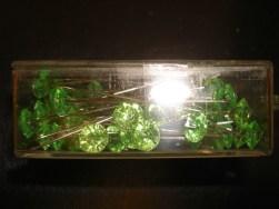 Apple Green Diamante Pins