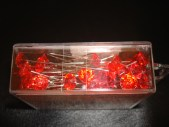 Red Diamante Pins