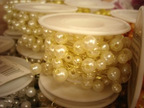 Ivory Beaded Wire