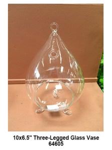 64605 Three-Legged Glass Vase