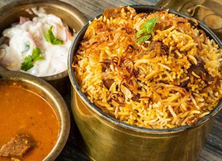 A serving of Hyderabadi Dum Biryani
