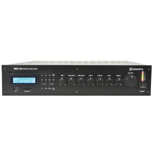 ADASTRA RMC120 5 Channel 100V Line Mixer Amplifier with CD/USB/SD/FM