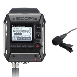 Zoom F1 LP Field Recorder + Lavalier Mic