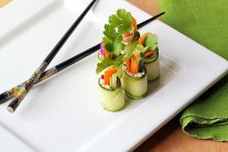 Raw Zucchini Sushi Rolls Recipe