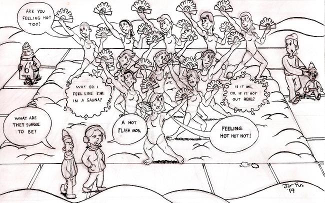 Cartoon: Hot Flash Mob • Nyack News and Views