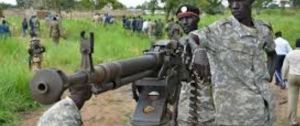 South Sudanese SPLA soldiers are pictured in Pageri in Eastern Equatoria state on August 20 where they fought an armed group identified as SSAF(Photo: Gehtti Image)