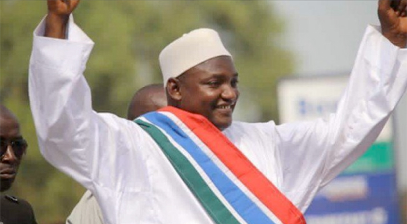 Adama Barrow, the new President of Gambia, celebrating his victory to lead his country after a long struggle(Photo: file)