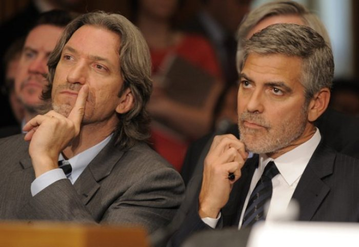 Mr. George Clooney and his riend Prendergast thinking about resolving South Sudan crises and how to disarm kleptocrats in that country(Photo: file)