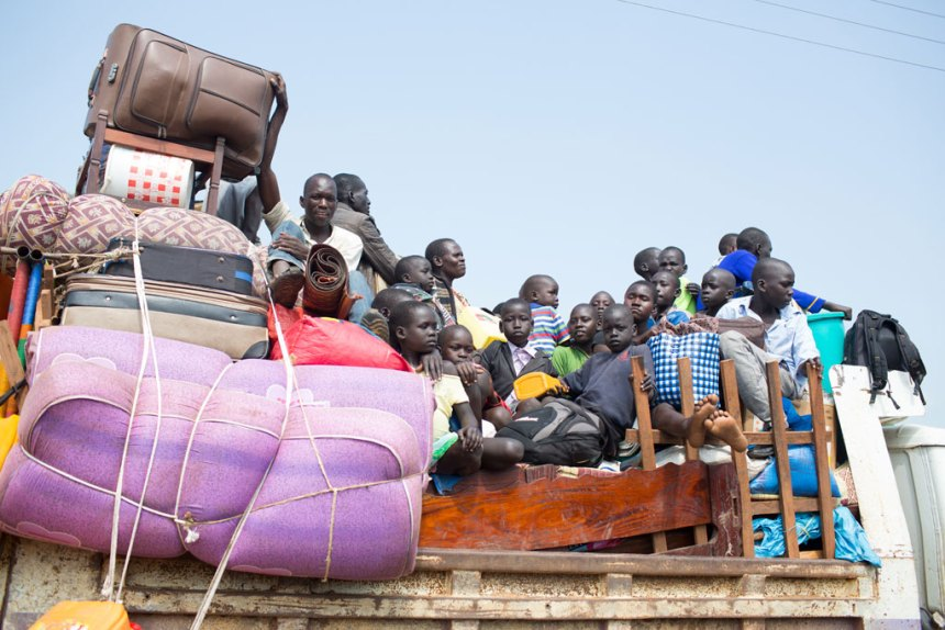 Refugees from South Sudan arrive in Elegu, northern Uganda(Photo: UNHCR/Will Swanson)