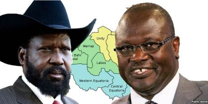 President Salva Kiir Mayardit and First Vice President Dr. Riek Machar Teny(Photo: file)