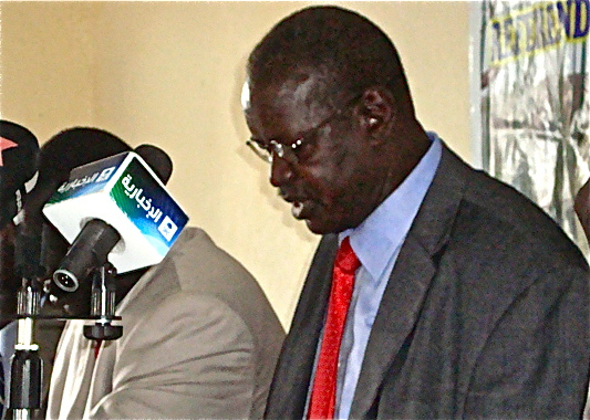 Ambassador/Professor David de Chand Ruai speaks to media in Khartoum, Sudan(Photo: file)