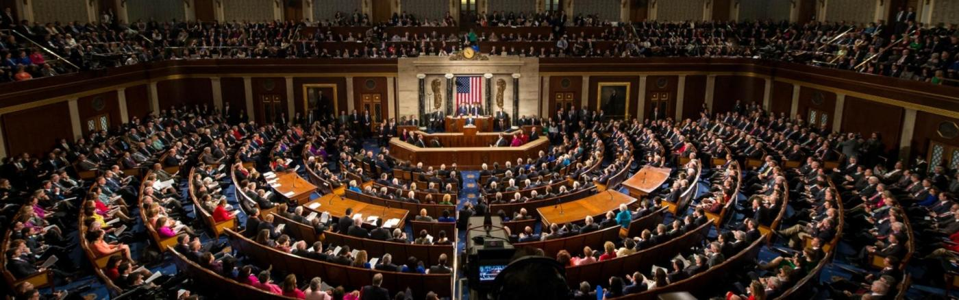 The US Congress in a session...