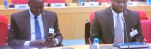 SPLM/A-IO Genenerals, Hon. Nathaniel Pierino and Hon. Gabriel Duop Lam during Peace Revitalization Forum in Addis Ababa, Ethiopia(Photo: file/supplied/Nyamilepedia)