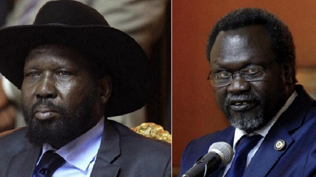 President Salva Kiir and former First Vice President, Dr Riek Machar (photo: file)