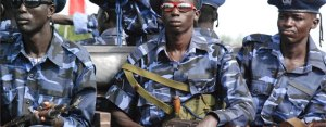 South Sudan police force (Photo credit: Supplied/Nyamilepedia)