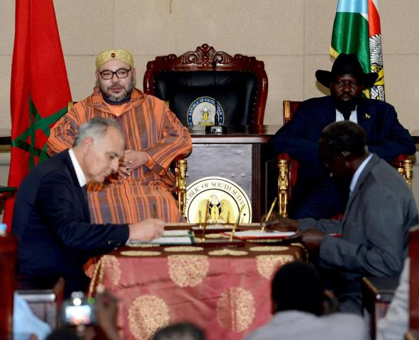 King Mohammed VI, South Sudanese Pres. Chair Signing Ceremony of Nine Bilateral Agreements one of which being the new capital, Ramciel(Photo: file)