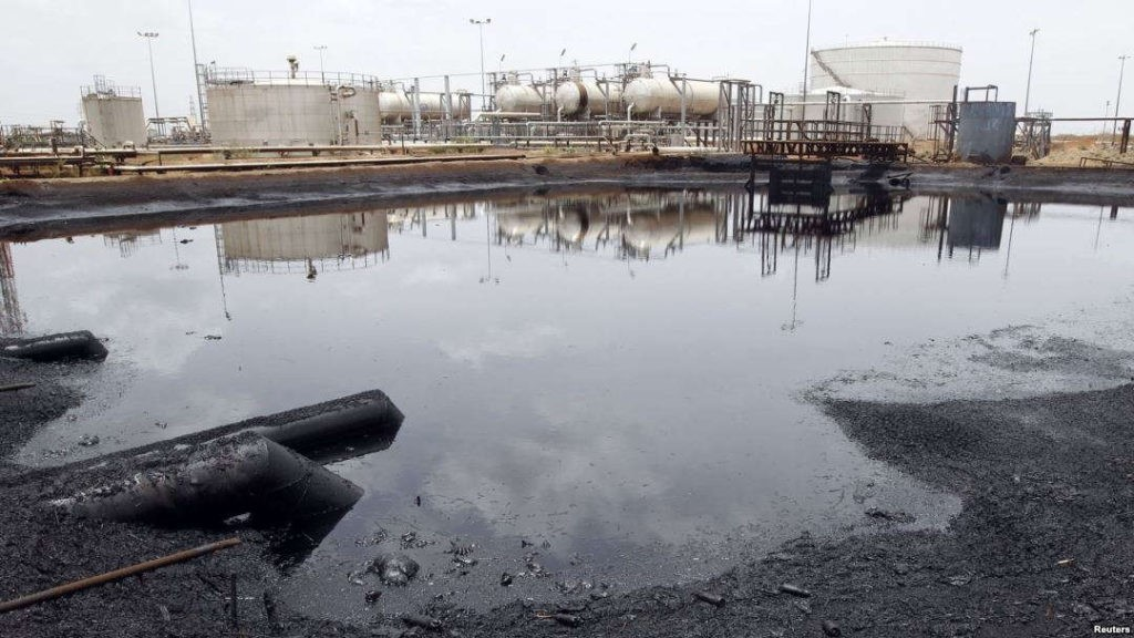 Petroleum wastes in Unity Oilfields, Unity State (File/Supplied/Nyamilepedia)