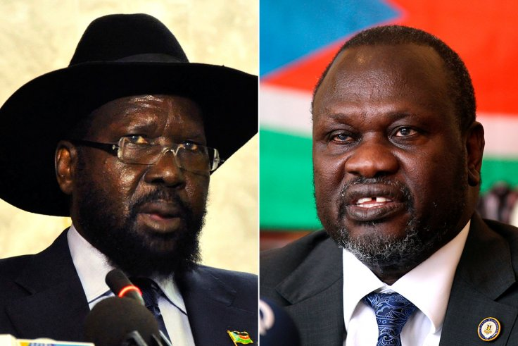 South Sudan President, Salva Kiir and SPLM-IO leader Dr/. Riek Machar (File/Supplied/Nyamilepedia)