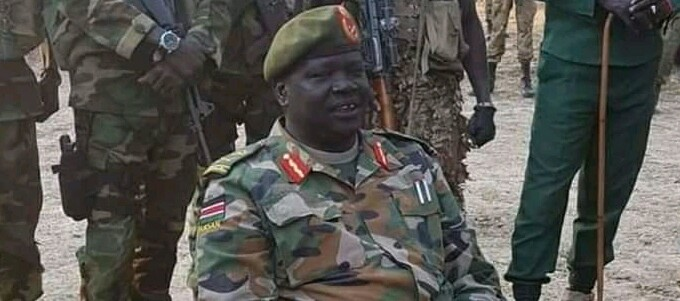 South Sudan detained army officer General Buay Rolnyang (File/Supplied/Nyamilepedia)