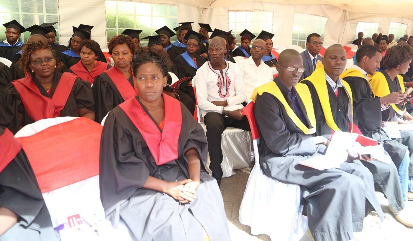 AMREF International University graduating one of its over 30 graduands in 2017(Photo credit: Amref Health Africa)
