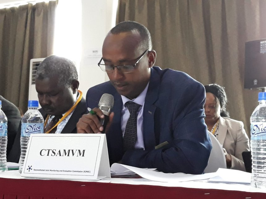 Maj. Gen. Desta Abiche Ageno, Chairman of CTSAMVM speaking at The CTSAMVM Technical Committee Meeting(Photo credit: Nyamilepedia/file)