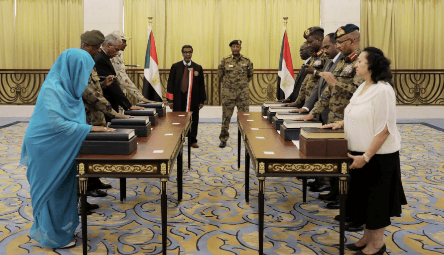 A state sovereign Council (SSC) consisting of 11 members being sworn in the Sudanese capital, Khartoum, after 9 months of stand-off between the civilians and the military(Photo: file)