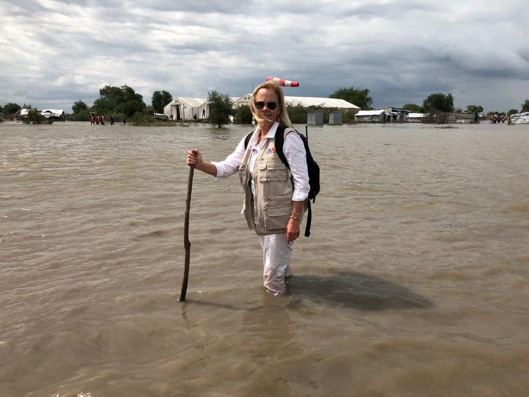 USAID Mission Director Leslie Reed yesterday visited Pibor, one of the flood affected areas in South Sudan(Photo: file)