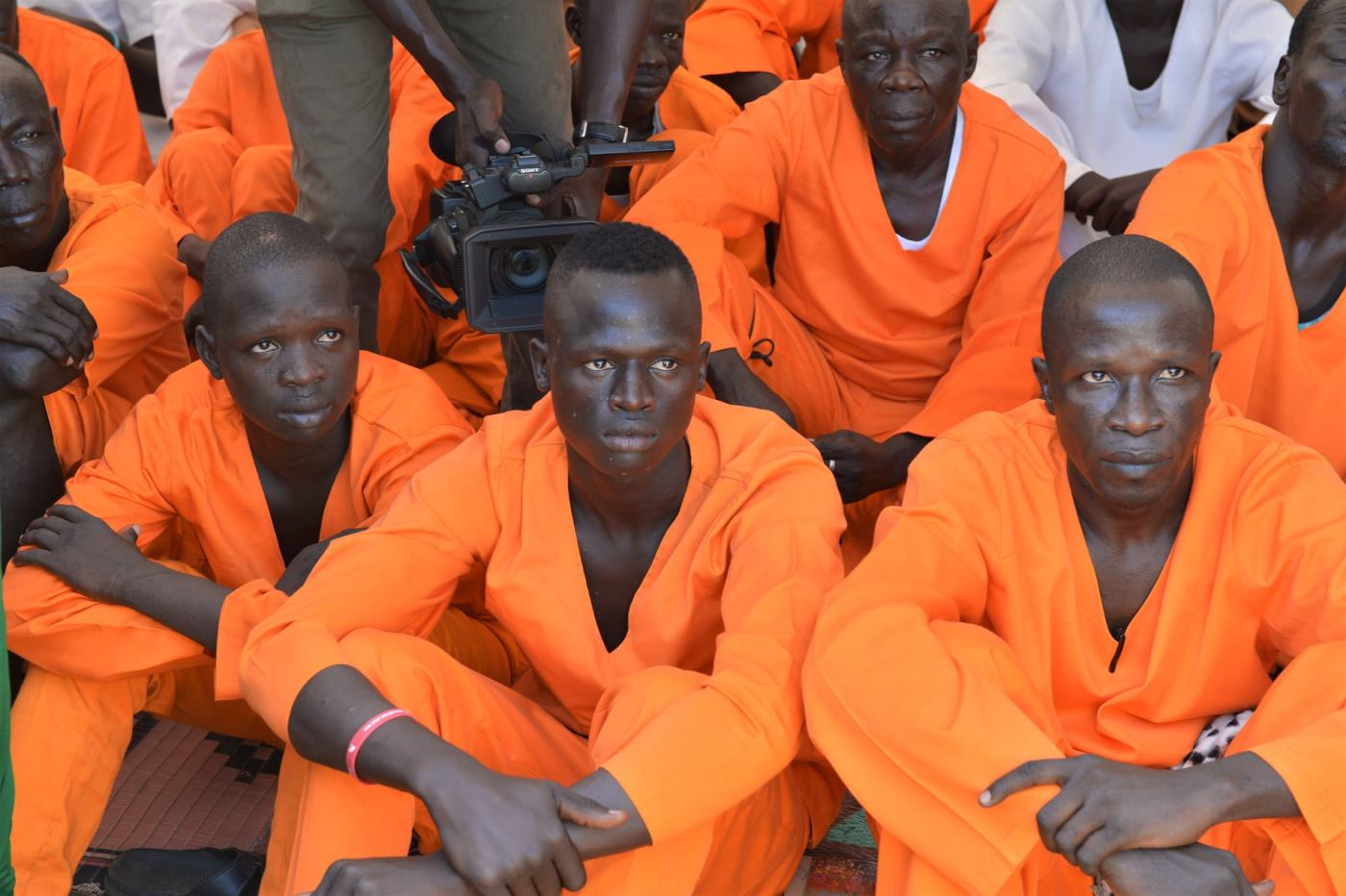 Some of the inmates president Salva Kiir visited at the national prison in Juba on Tuesday, December 24, 2019(Photo credit: SSPPU/Nyamilepedia)