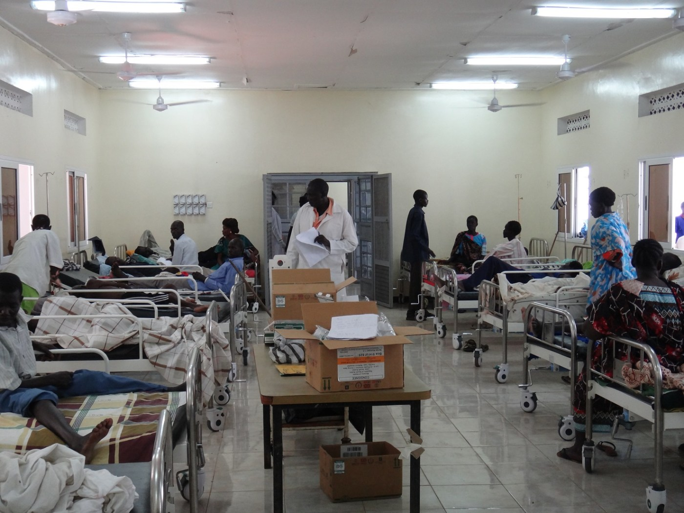 Medical staff at the Juba teaching hospital(Photo credit: supplied)