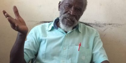 Professor Taban lo Liyong, a South Sudanese nationalist and Acadician who was recently suspended from his teaching career over a letter that he wrote to President Donald Trump(Photo credit: supplied)