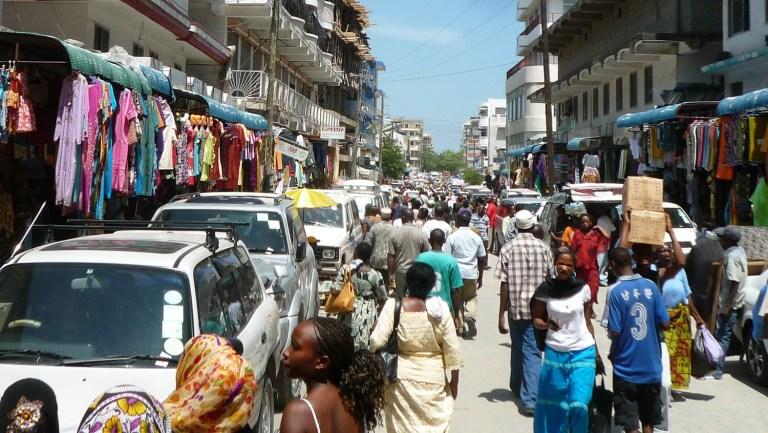 A market in Tanzanian's capital, Dar eS Salaam(Photo credit: frontlinedefenders.org)
