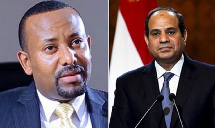 Egyptian president Abdel Fattah al-Sisi [right] and Ethiopian Prime Minister Dr. Abiy Ahmed [tight] (Photo credit: unknown)
