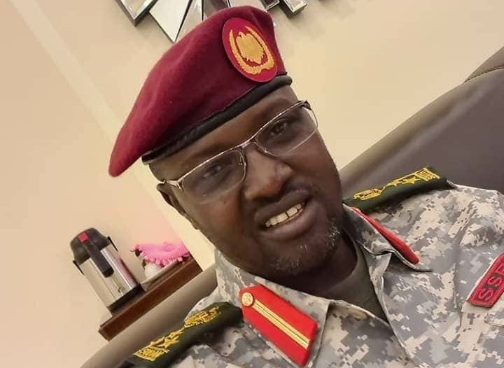 National Security officer, Brigadier General Majier Abdalla Mabior, who was arrested last night over the death of Kiir's nephew (Photo credit: supplied)