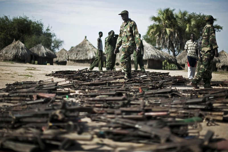 Weapons collected from civilians in Lakes state (Photo credit: unknown)