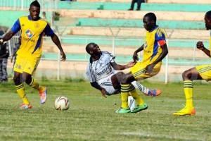 Ugandan teams, KCCA FC and Police FC, in an encounter of the first round of UP (Photo credit: supplied)