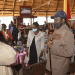 President Salva Kiir and Dr. Riek Machar Teny greet in Coronavirus greeting style during a presidential lunch at J1(Photo credit: Nyamilepedia/SSPPU)