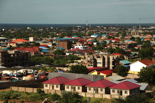 Aerial view of South Sudan capital Juba (Photo credit: unknown)