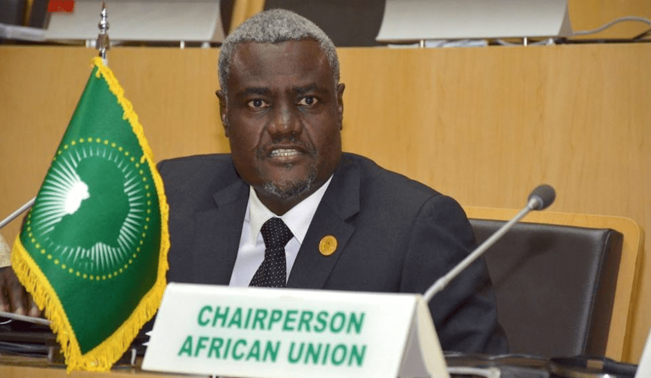 The Chairperson of the Commission of the African Union (AU), H.E Moussa Faki Mahamat(Photo credit: Nyamilepedia)
