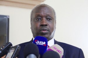 Hon. Nhial Deng Nhial, South Sudan Minister of Presidential Affairs speak to media in the past(Photo credit: file)