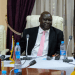 The Minister of Peacebuilding Hon. Stephen Par Kuol and the Chair of South Sudan Peace and Reconciliation Commission Hon. Chuol Rambang Luoth hosted media for a briefing and update on peacebuilding efforts, Sep 21, 2020(Photo credit: UNDP/Nyamilepedia)