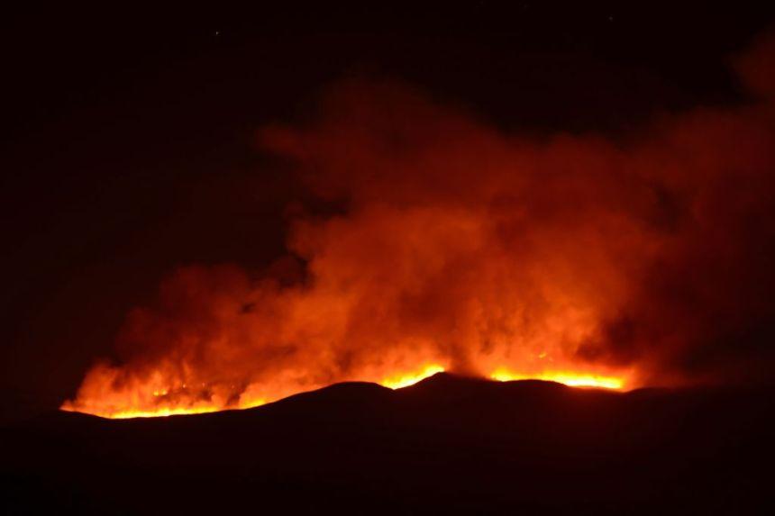 Fire on Kilimanjaro 14 A fire burns on Mount Kilimanjaro Tanzania, oct 11, 2020 (Photo credit: courtesy image/Getty Image)