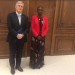 Min of Defense and Veteran Affairs, Hon. Angelina Teny and European Union Ambassador to South Sudan Christian Bader meeting over graduation of unified forces in Juba(Photo credit: courtesy image/Via EU in South Sudan)