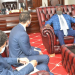 South Sudan Minister of Presidential Affairs Nhial Deng Nhial meeting the Egyptian Ambassador to South Sudan, Dr. Mohamed kadah, on Thursday, Oct 22, 2020(Photo credit: Courtesy image/Nyamilepedia)