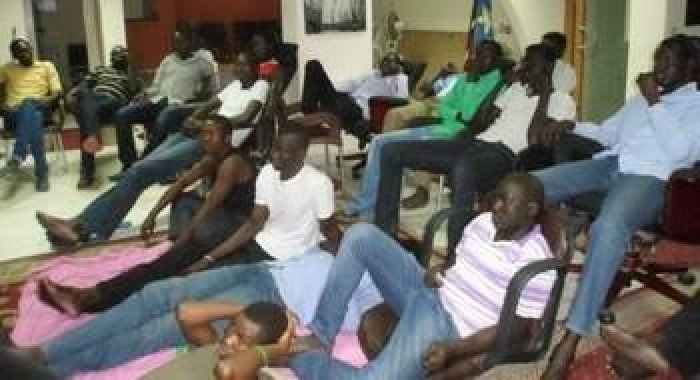 South Sudan Students participating in the sit-in at the embassy said they have suffered shortages of food(Photo credit: supplied/Nyamilepedia)