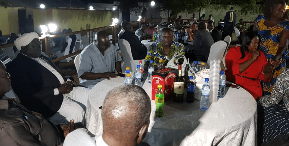 Senior Equatoria Delegates attending a dinner at the CES Governor, Emmanuel Adil Anthony, house on Monday Nov 2, 2020(Photo credit: courtesy image/Nyamilepedia)