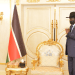 CES Governor Emmanuel Adil Anthony meets president Salva Kiir in his office to discuss festive season(Photo credit: courtesy image/Nyamilepedia)